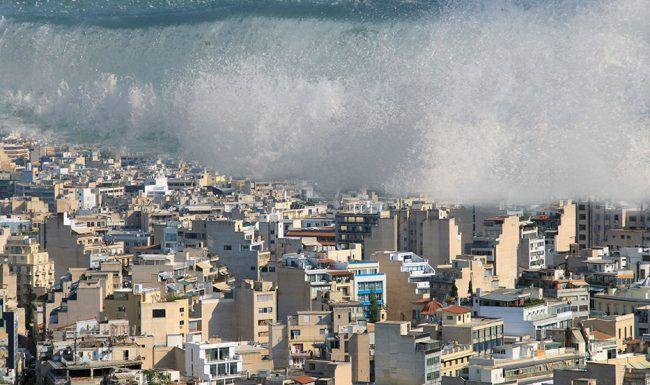 Raz de marée - alerte à la population